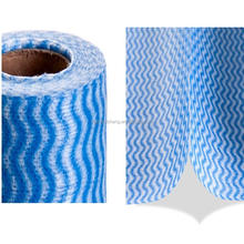 Oem manufacture diamond wave polyester rayon chemical bond nonwoven fabric household printing novelty cleaning cloth