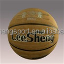 Selected material of composite frosted PU leather basketball