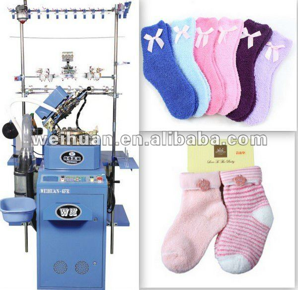 special-made automatic sock knitting machine for making feather yarn socks(WH-6F-C2)(4.5 inch)