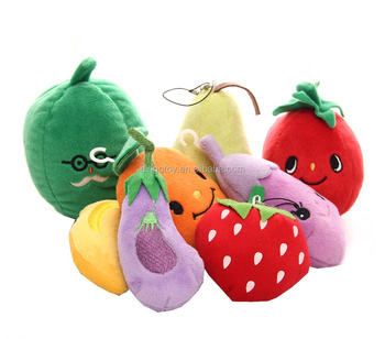 12cm fashion mini new style soft stuffed plush vegetable fruit keychain