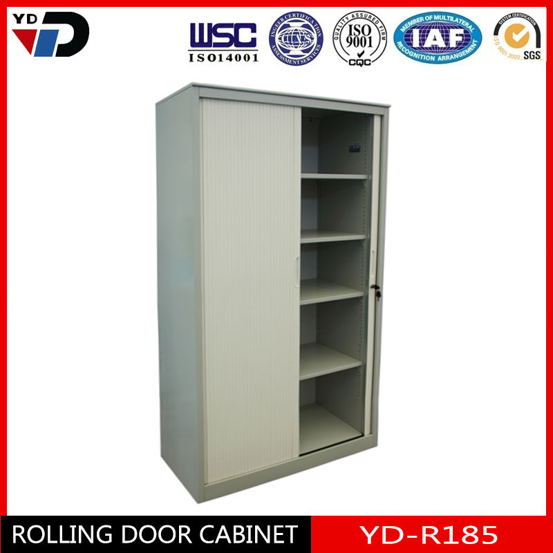 Tanzania hot sale cheap folding roller cupboard wardrobe office furniture