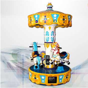 kiddie ride mini indoor carousel for sale 3 seats carousel parking