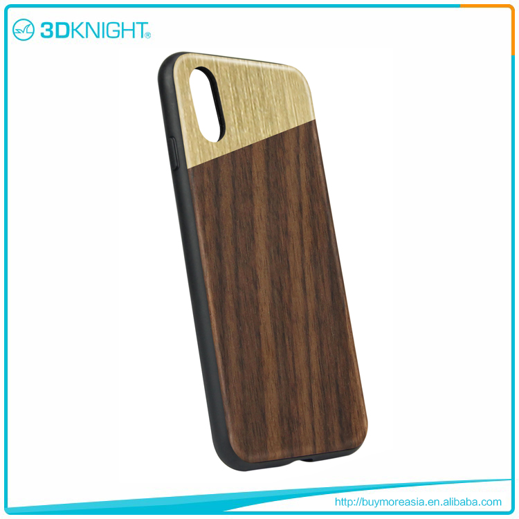Real wood cell phone case for iphone X, real wood phone case Sample
