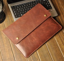 LT1100 Good Quality Leather Laptop Sleeve Compact Computer bag