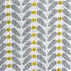 Curtain Fabric - Yellow Grey- Linen fabric - Scandinavian Fabric