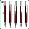 JXC191 new fashion click custom business logo gift wooden ball pen