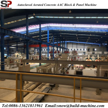 Autoclaved light weight block machine/autoclaved aerated concrete AAC production line for sale