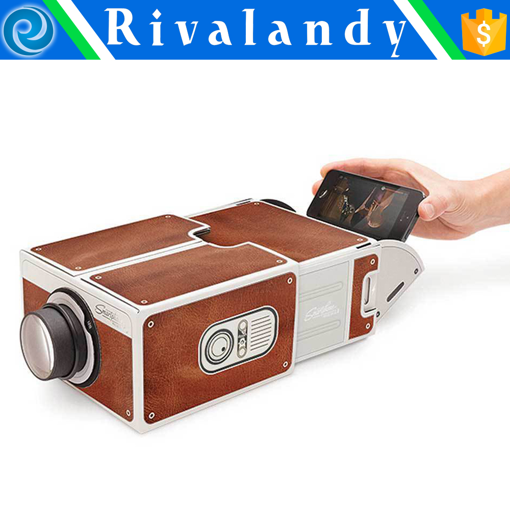 Cheap projector mobile II Smartphone Projector DIY Cardboard Cell Phone Projector Best Seller