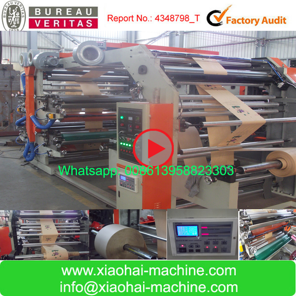 HAS VIDEO Cheap Price 2 4 6 Colors Flexographic Type Paper Bag Printing Machine For Food Bag,Bread Bag,Shopping Bag