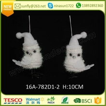 2016 holiday time wholesale hanging xmas tree ornaments 10CM owl christmas decorations made in china
