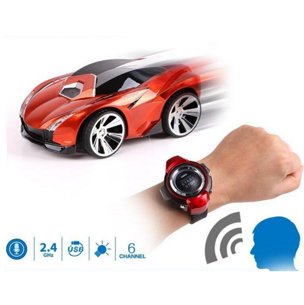 2016 newest Toys Christmas 6CH Smart Watch Remote Control Car Voice Control RC Car Mini Car for Children