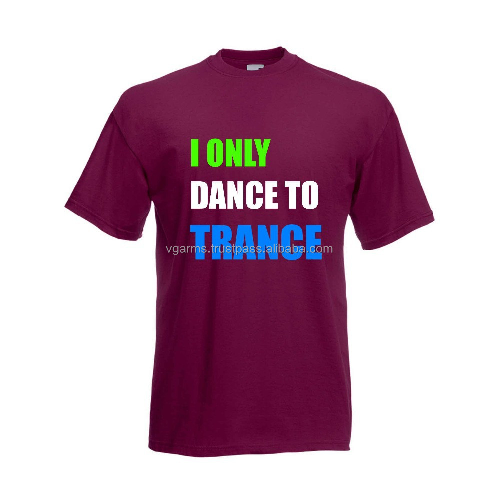 wholesale trance music burgundy t shirt
