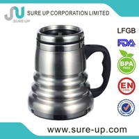 Handle connected with body special design unique thermos mug(MSUV)