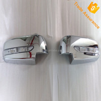 Pickup Mitsubishi 2009 Triton door side mirror cover trims For Mitsubishi 2007 L200 chromed mirror cover with led accessories