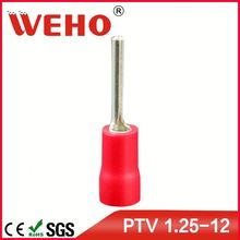 PTV electrical type pvc wire crimping pin terminals in terminal factory price