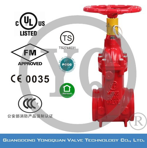 Non-rising Stem Resilient Seated UL listed Gate Valve