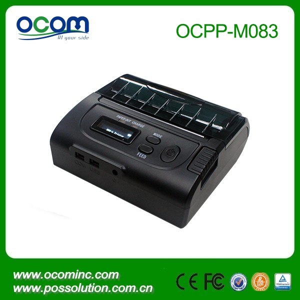 OCPP-M082 Reliable battery powered winCE Android or iOS comply 80mm bluetooth portable mini mobile printer