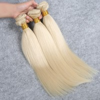 Wholesale Indian Hair #613 blonde hair weft for reseller