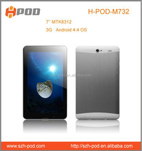chinese h-pod brand tablet pc 7inch cheapest 3g android dual sim mobile phone with gps bluetooth