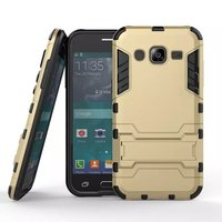 Hot Selling Iron-Bear Stand Rugged Hybrid Armor Back Cover Case For Samsung Galaxy J2