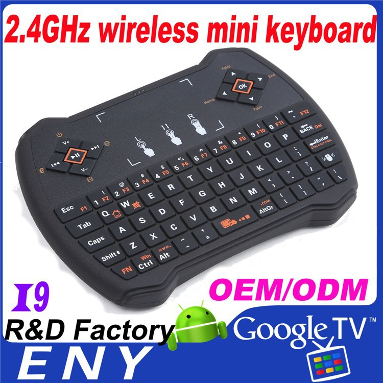 2015 New 2.4GHz Wireless different languages OEM ODM wholesale mini wireless keyboard and mouse for ipad