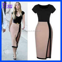 Fashion Summer Women short sleeve dress sexy pencil dress
