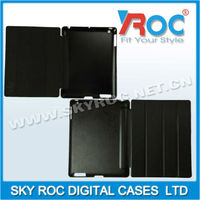 2013 Top Quality four folding leather case with stand function suitable for ipad 2 ipad 3