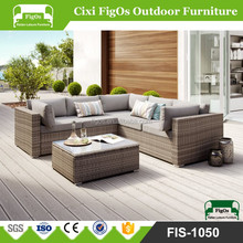 4 Pieces Best Choice Cheap Outdoor Furniture Patio Cushion Wicker Rattan Garden Corner Sofa Couch Set