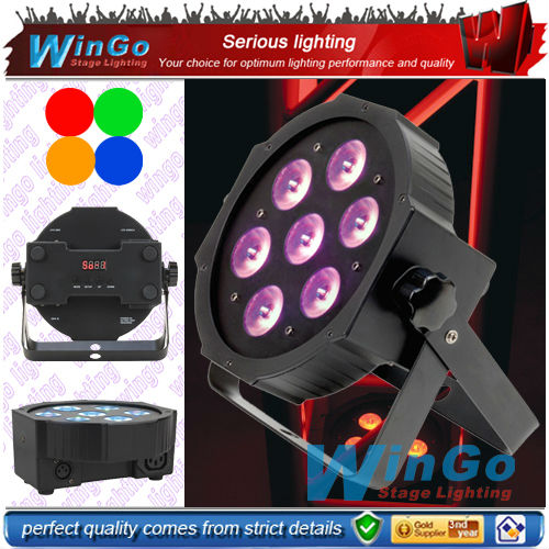 7x12w rgbw Super Brightness led mini par /led flat par light/ disco light for night club dancing home party system