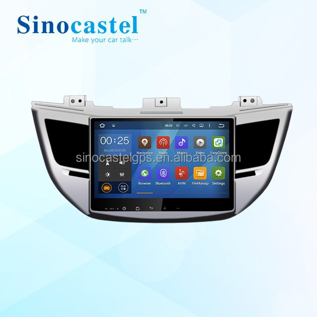In-Dash multimedia navigation system double din stereo android auto gps dvd with navigation for hyundai ix35 tucson 2016