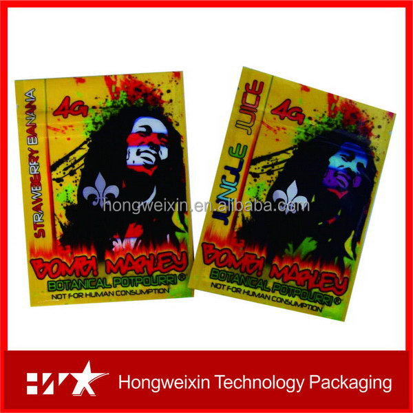 Innovative promotional second generation herbal incense bag