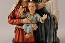 religious ornament gifts with holy family figurines