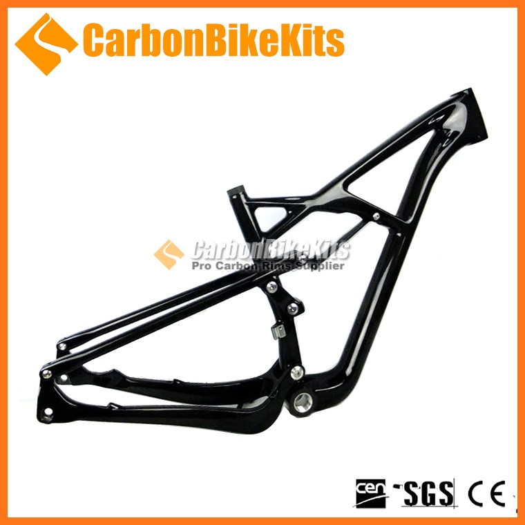CarbonBikeKits 2016 high quality 29er bike full suspension mtb carbon frame BB30/ PF30 bicycle frame Disc Brake E-type CFM055