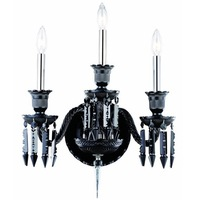 Baccarat Style Black Crystal Hotel Wall Sconce Mounted Chandelier LED Light Lamp for Living Room