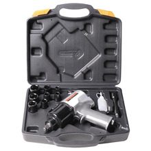 20PCS KR-1419K Pneumatic Tools Air Torque Wrench 1/2 Inch Heavy Duty Tools kit Air Impact Wrench Set Silver