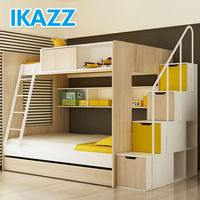 solid wood childrens storage bunk beds for kids