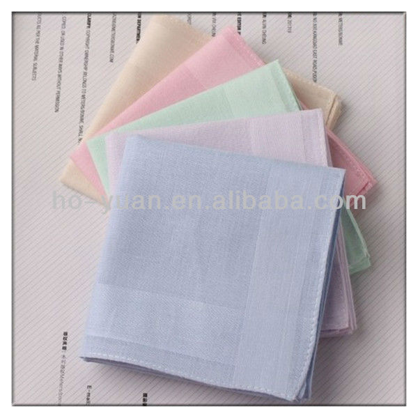 Promotional Customized Children 100% Cotton Pure Color Handkerchiefs