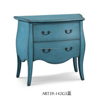 Exotic color cabinet for Living room or bedroom, french wood bed side cabinet, antique night stands