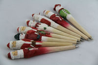 handmade wooden pen santa claus for christmas gift 2015