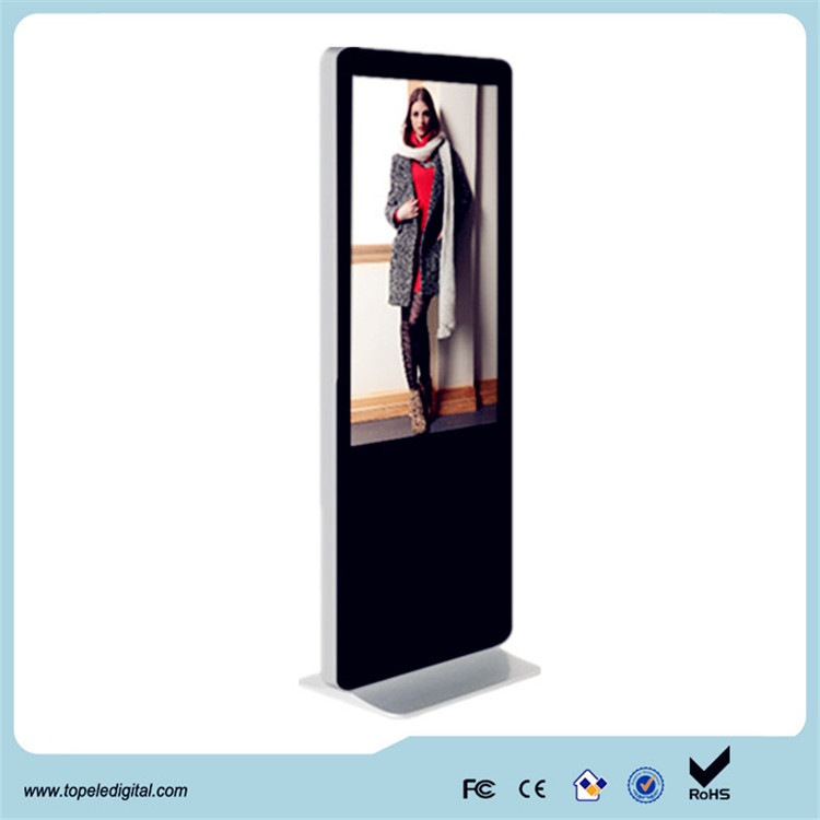 55inch floor stand kiosk lcd advertising image display, lcd advertising equipment ,high quality lcd photo booth and video booth