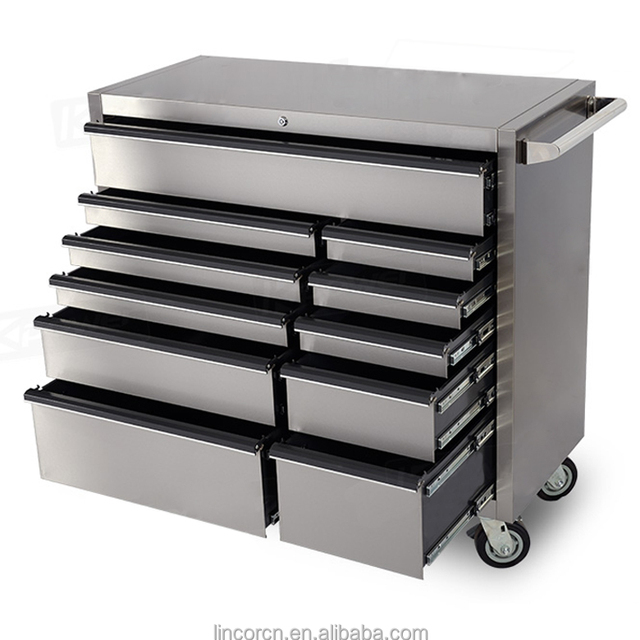 2016 New 42 Inches professional stainless steel cheap industrial garage storage tool cabinet
