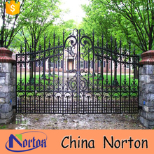 Modern craft wrought iron automatic driveway gates for sale NT--WIA022