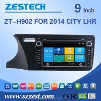 Support 3G/V-10disc/Audio/Video double din digital touch screen car stereo for HONDA CITY 2014 LHR