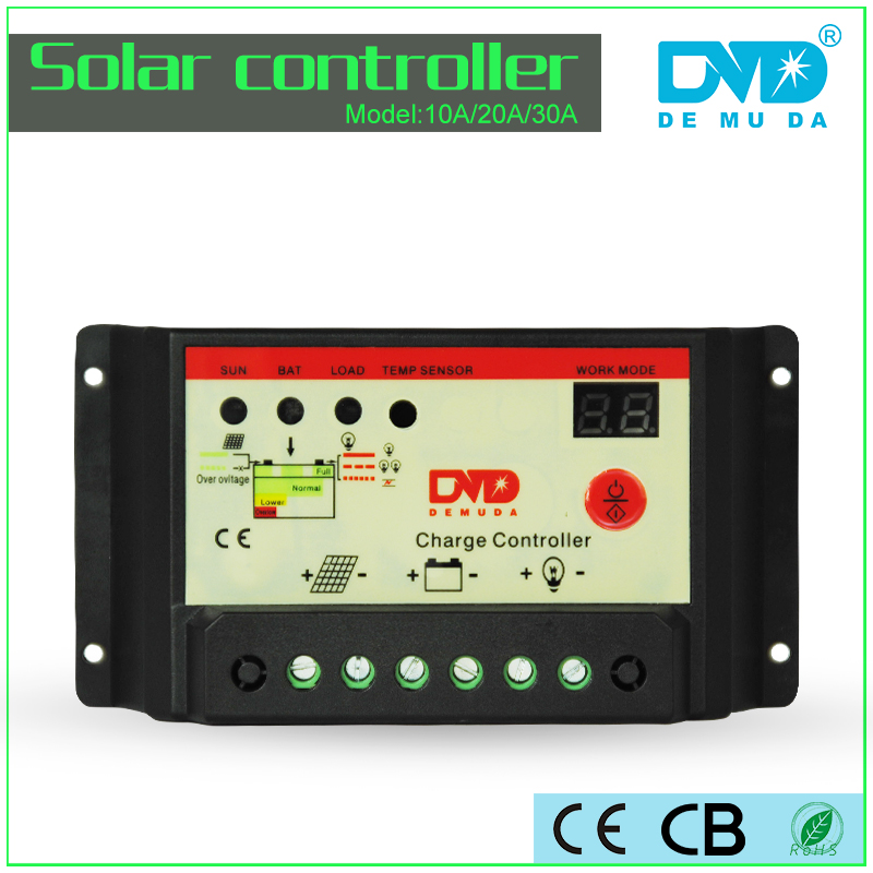 demuda 12v 24v 48v solar charge 10a 20a 30a solar water heater controller m-7