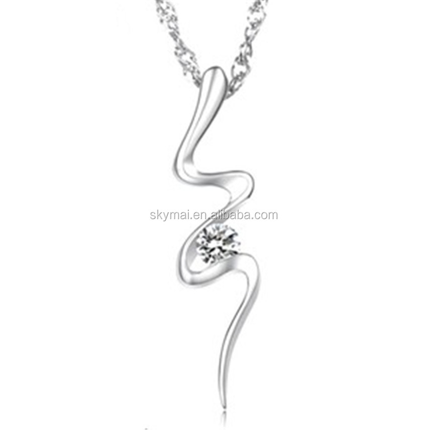 2017 Mujer Silve Snake Charms Necklaces & Pendants,New Fashion Design Brand Long Necklace for Women Girls Accessories