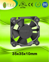 5v 35x35x10mm small dc brushless cooling fans UL CE certificate 3510 cooling fan