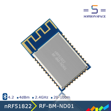 small size bluetooth low energy 4.2 rf module RF-BM-ND01 Nordic nRF51822 bluetooth components