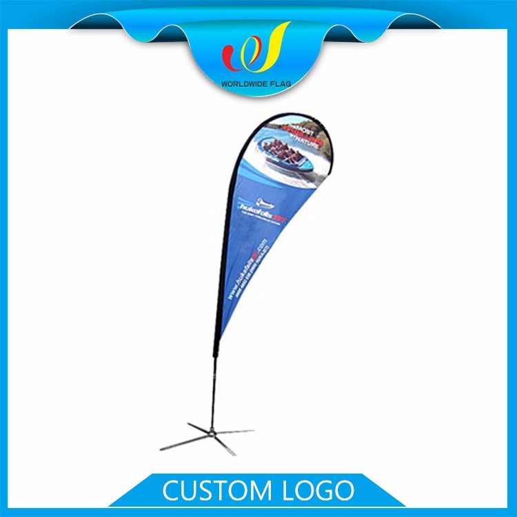 Feather Advertise Commercial Teardrop Manufactured Outdoor Wind Beach Flag Display