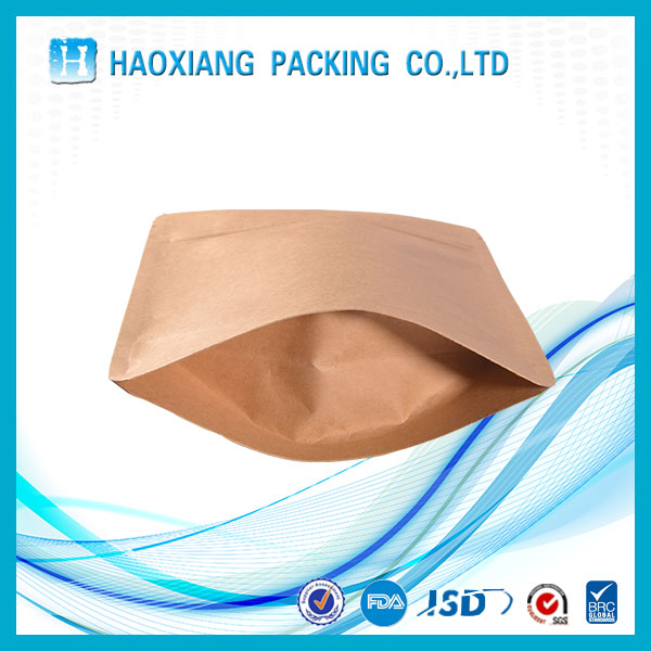 2016 New Products Small Kraft paper food grade packing bag