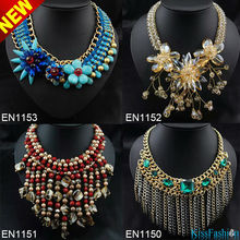 2014 Wholesale Factory Delivered Popular New Styles OEM Costume Jewelry Fashion Pendant Necklace Designs